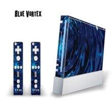 MightySkins WII-Blue Vortex Decal Skin for Nintendo WII Console & Two Wiimote Controllers Sticker, Blue Vortex - 10 Piece