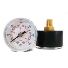 Pressure Gauge 40mm Dial 0/300 PSI & 0/20 Bar 1/8 BSPT Back Connection