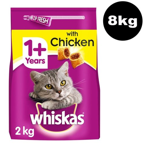 WHISKAS 1+ Cat Complete Dry With Chicken 4x2kg