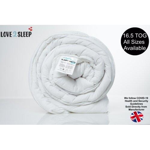 Extra Winter Warm Comfort Duvet 16.5 Tog Anti Allergy Hollowfibre Quilt