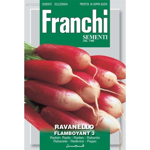 Franchi Seeds of Italy - DBO 112/25 - Radish - Flamboyant 3 - Seeds