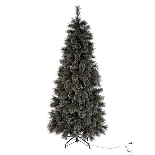 Home 6ft Pre-Lit Cashmere Christmas Tree - Black