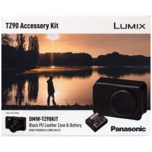 Panasonic LUMIX DMW-TZ90KIT Leather Case and Battery Kit for DC-TZ90 - Black