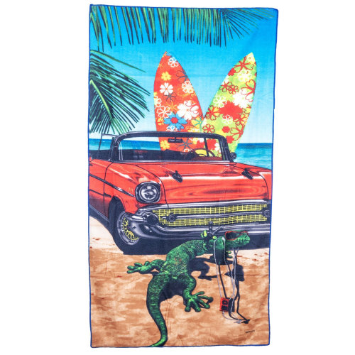 GEEZY Large Soft Microfibre Beach Towel - GECKO Design