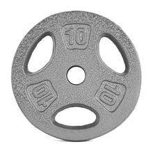 CAP Barbell Standard 1Inch Grip Weight Plates, Single, Gray, 10 Pound