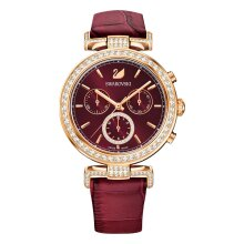 Swarovski 5416701 Red Rose-Gold Tone PVD Ladies Watch