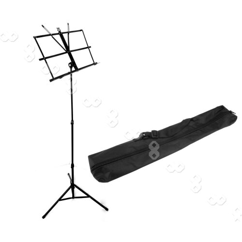 New Sheet Music Stand Black Adjustable Foldable With Carry Bag