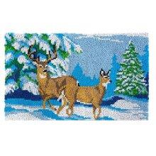 Mountain Deer Rug Latch Hooking Kit (85x58cm)