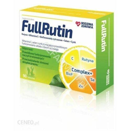 FullRutin 90 tab Rodzina Zdrowia RUTYNA WITAMINA C rutin rutimax