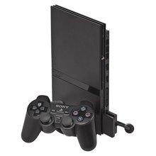 Sony PS2 Slimline Console (Black) (PS2) - Used