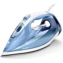 Philips Azur Steam Iron with 180g Steam Boost, 2400W & SteamGlide Soleplate â Blue/White â GC4532/26