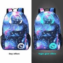 Galaxy School Bag Backpack Canvas USB Teens Kids