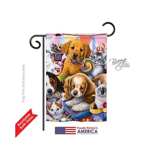 Breeze Decor 60070 Pets Sweet Ones 2-Sided Impression Garden Flag - 13 x 18.5 in.