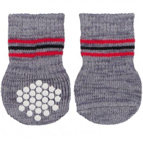 Dog Socks, Non-slip, M–l, 2 Pcs., Grey - Socks Trixie Slip Antislipml -  socks dog trixie slip grey antislip ml