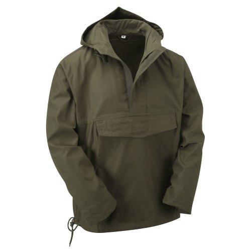 (Olive, S) New Latest Style Hooded Anorak Smock Jacket