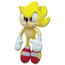 Sonic The Hedgehog great Eastern gE 8958 Plush Super Sonic 12