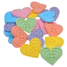 Birthday Cupcake & Cake Toppers 18 Heart Shaped Buttons