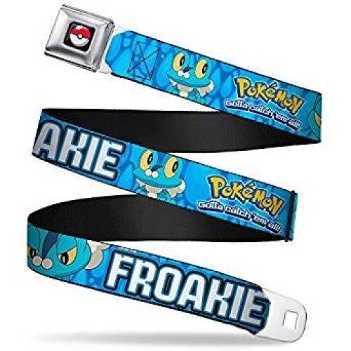 Seatbelt Belt - Pokemon - V.5 Adj 24-38' Mesh New pka-wpk094