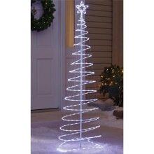 Celebrations 9016112 Metal Micro Dot Spiral LED Tree, White