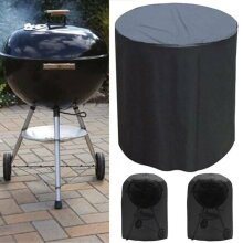 """28"""" Waterproof BBQ Grill Round Table Cover Gas Fire Pit Barbecue Protect Outdoor"""