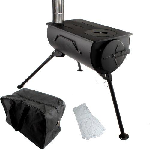 Camping Wood Stove Outdoor Cooker Firepit BBQ Freestanding Bag Set