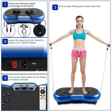 1-99 Level Fitness Vibration Plate LED Vibration Platform
