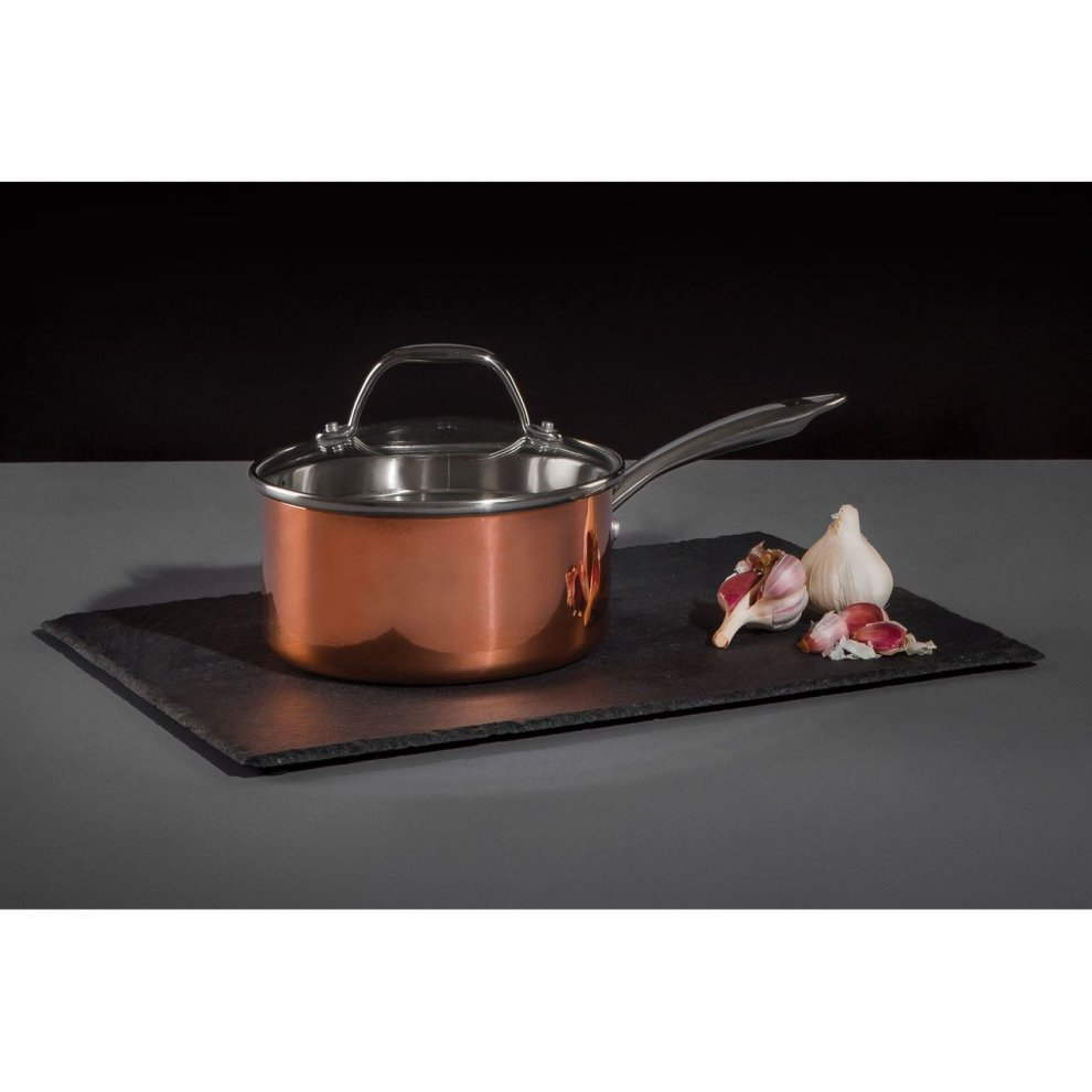 Minerva Frying Pan Warm Copper Finish Tri Ply Stainless Steel Handle
