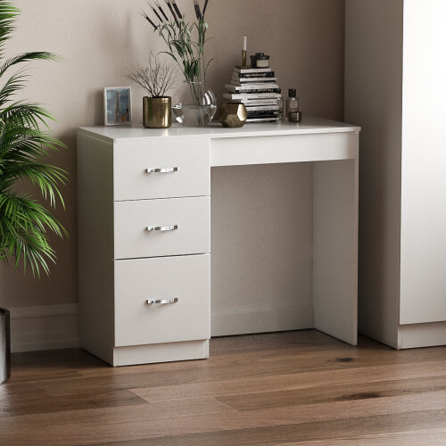 Riano 3 Drawer Dressing Table Makeup Computer Desk