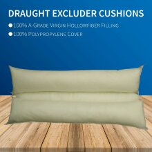 """Hollow Fiber Filled Draught Excluder Long Door Cushion Wind Stopper Polyester Fabric Sausage for Window Bottom Energy Saving in 9x37"""""""