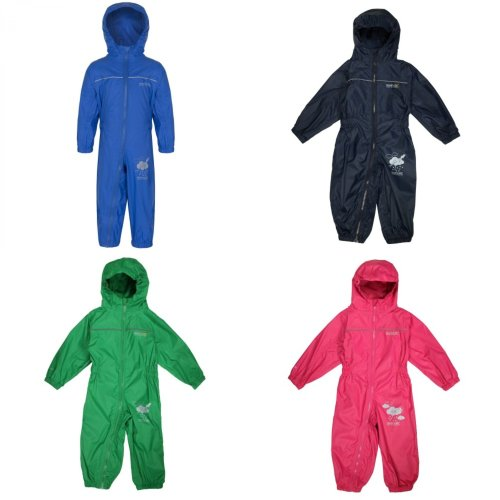 Regatta Great Outdoors Childrens Toddlers Puddle IV Waterproof Rainsuit 18-24m Oxford Blue