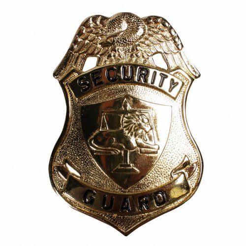 Security Guard / Officer s Badge - Gold Metal