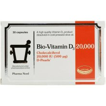 Bio Vitamin D3 500MCG Supplements 20000IU x 30 by Pharma Nord