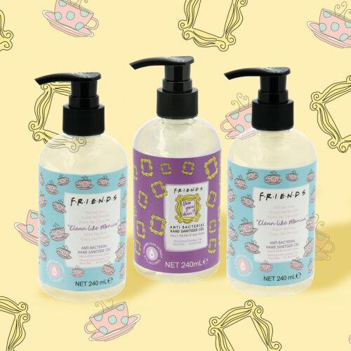 Friends Anti-Bacterial Gel Pump Hand Sanitiser 240ml (3 Pack)