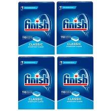 4 x Finish Classic Dishwasher Tablets Regular Pack Of 110 Tablets (1.99kg)