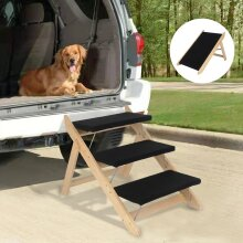 Pet Stairs Folding Convertible Indoor Outdoor Steps Portable Ladder