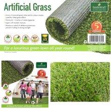 15mm Artificial Lawn Garden Fake Grass Realistic Astro Turf Mat 4m X 1m Roll