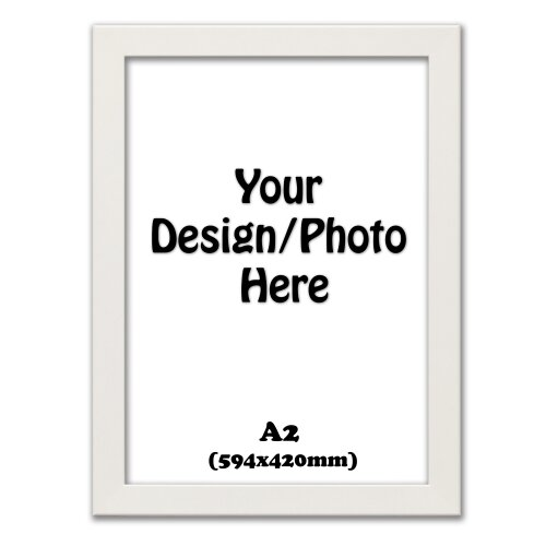 A2 White Photo Frames Picture Frames, Wooden Effect Frames (594x420mm)