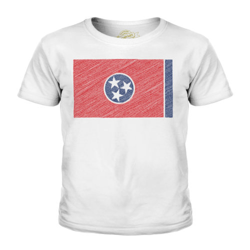 Candymix - Tennessee State Scribble Flag - Unisex Kid's T-Shirt