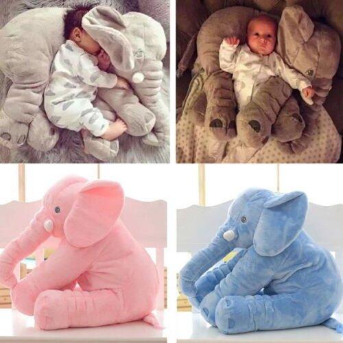 Soft Plush Elephant Sleep Pillow Baby Cushion Toy
