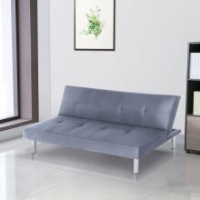 Fabric 3 Seater Sofa Bed Modern Padded Sofabed Couch Settee Recliner