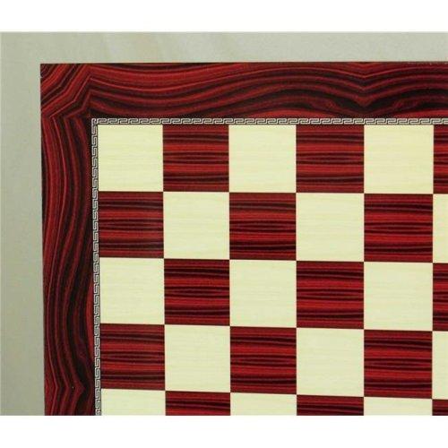 WorldWise 75818 Red Grain Decoupage Chess Board