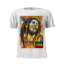 Bob Marley One Love Jamaican ReggaeMen Tee M793