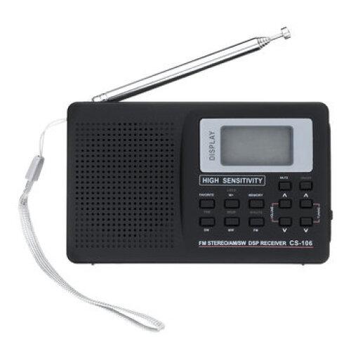 Portable Digital Full Band AM FM SW MW LW Radio Receiver Alarm Clock 9K