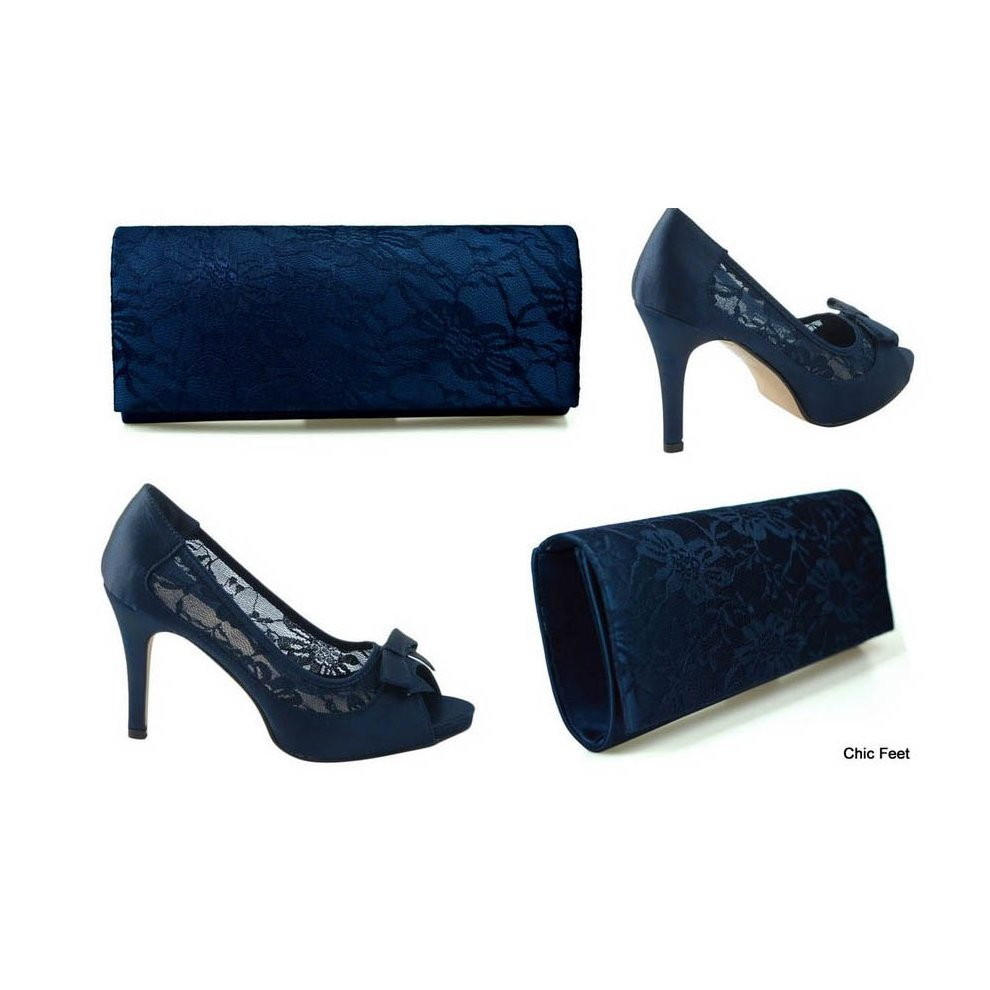 Lace High Heel Court Shoes \u0026Bag on OnBuy
