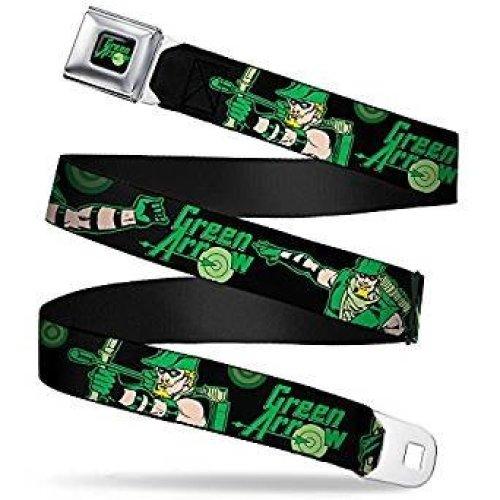 Seatbelt Belt - Green Arrow - V.2 Adj 24-38' Mesh New gaa-wga002