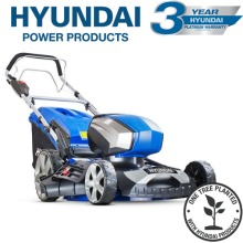 """Hyundai HYM80LI460SP 80V Lithium-Ion Cordless Battery Powered Self Propelled Lawn Mower 18"""" Cutting Width With Battery & Charger"""