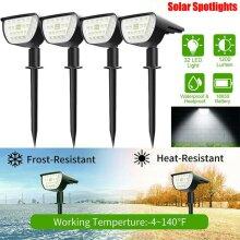 32 LED Solar Powered Wall Light Lawn Lamp