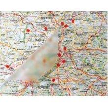 Privacy Film Contact Paper Transparent Gloss 1m x 45cm Self Adhesive Vinyl 0112