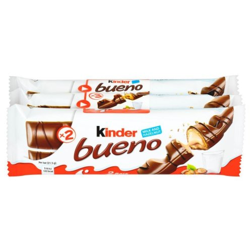 Kinder Bueno Pack of 3 (43g x 3 Bars)