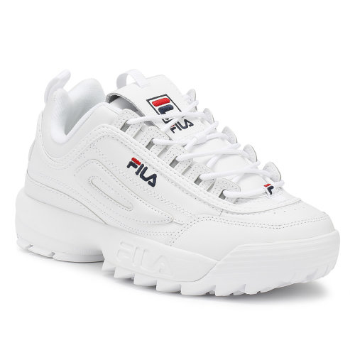 (UK 5) Fila Disruptor II Premium Womens White Trainers